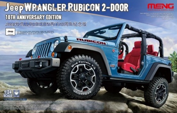 1/24 Jeep Wrangler Rubicon 2 door 10th Anniversary version