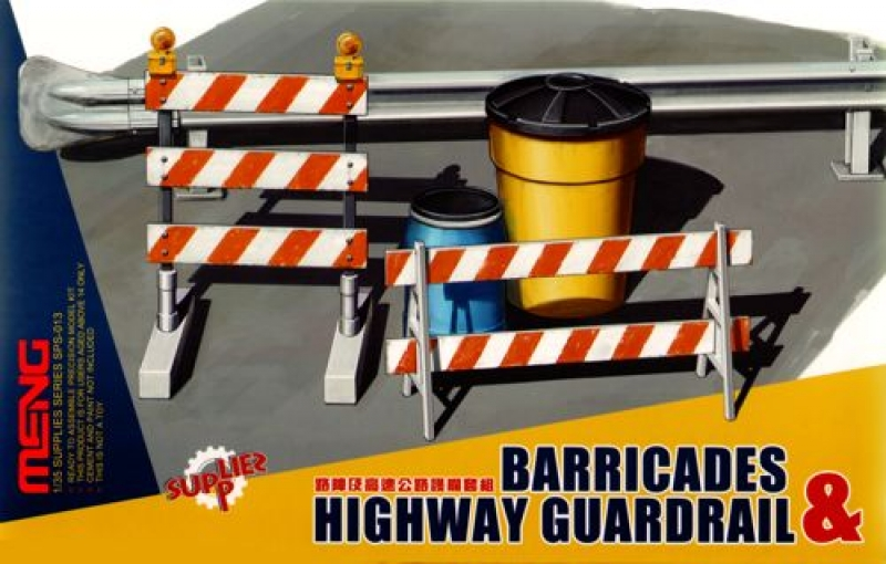 1/35 Barricades & Highway Guardrail
